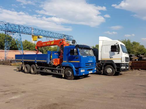 Собственный автотранспорт для доставки изделий и металлопроката