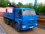 Доставка металлопроката и изделий автомобилем КАМАЗ