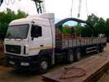 Доставка металлопроката и изделий автомобилем МАЗ